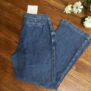 NWT Denim & Co trouser wide jeans 12P